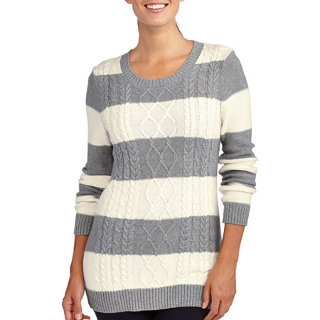 Womens Cable Knit Sweater Walmart