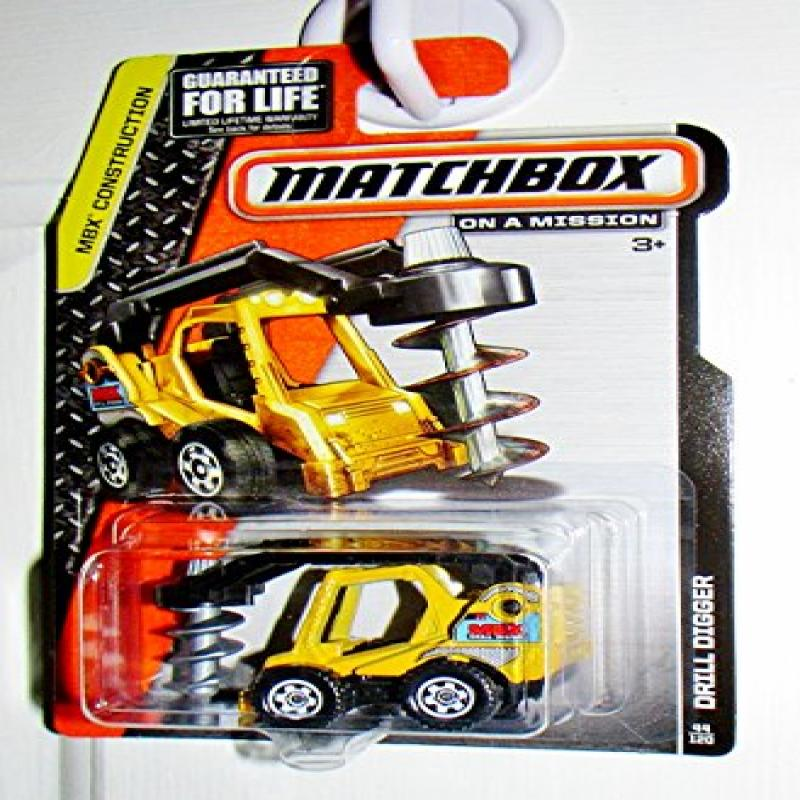 Matchbox MBX Construction Drill Digger Yellow 44 120 by