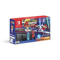 Nintendo Switch Console, Neon Blue & Neon Red with Mario Tennis Aces & 1-2-Switch