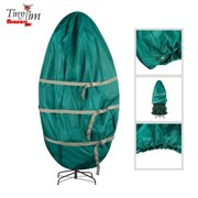 Tiny Tim Totes | Premium Upright Christmas Tree Canvas Storage Cover Bag | 7.5 FT | Green