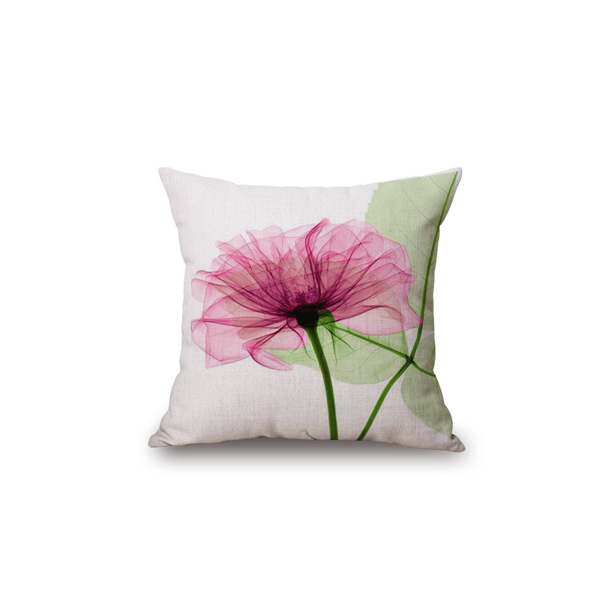 Flowers Throw Pillow Covers Cotton Linen Square Decorative Throw Pillow Case Cushion Cover Enchanting Beautiful Flowers Gift Anniversary Day Present 18 X18 Walmart Canada