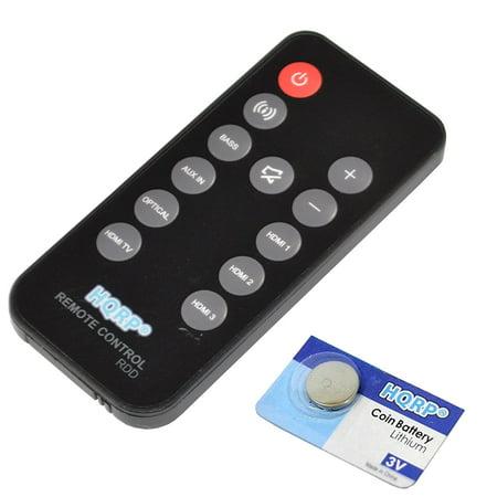 HQRP Remote Control for JBL CINEMA SB400 93040000860 SB4OO Soundbar Speaker System CINEMASB400 Controller + HQRP Coaster