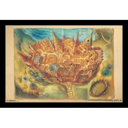 Harry Potter - Hogwarts Map Poster Print](Harry Potter Mlp)