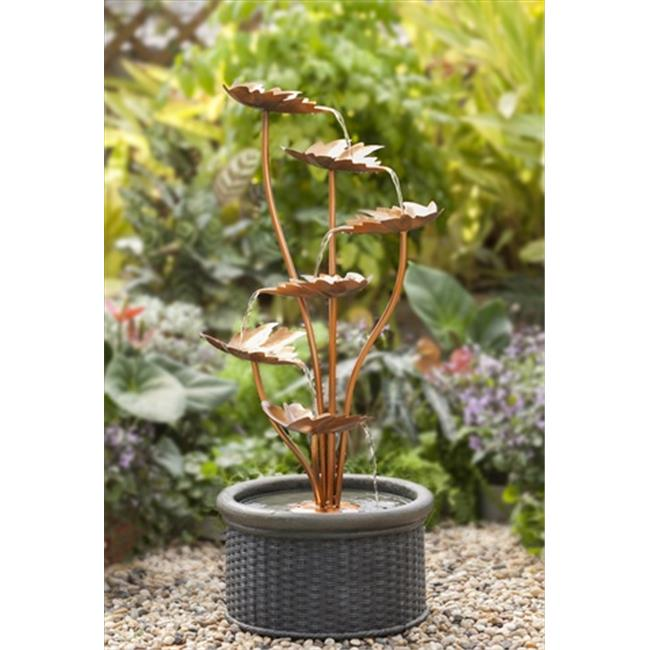 Jeco FCL087 Metal Leaves Water Fountain
