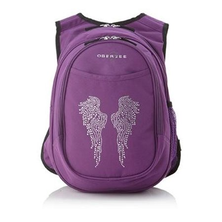 Kids All-In-One Bling Rhinestone Angel Wings Backpack With - Pilot Wings Backpack