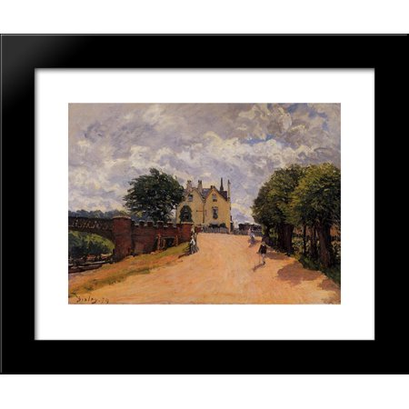 Inn At East Molesey With Hampton Court Bridge 20X24 Framed Art Print By Alfred Sisley