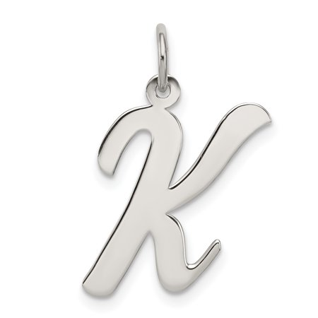 925 Sterling Silver Large Script Initial Monogram Name Letter K Pendant Charm Necklace Fine Jewelry Ideal Gifts For Women Gift Set From Heart
