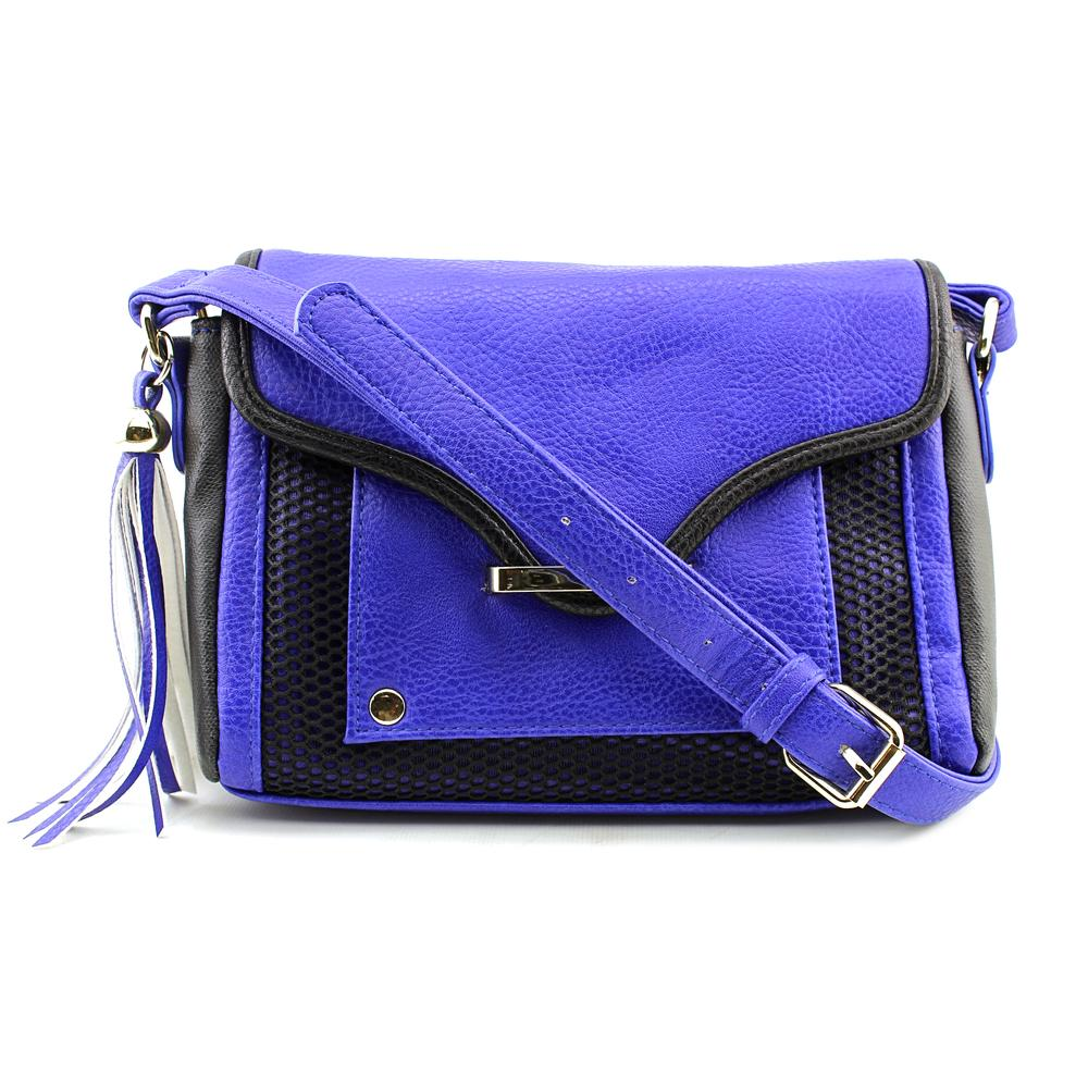 Poverty Flats Mesh Detail Large X Cross Body Women  Synthetic  Messenger