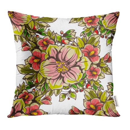CMFUN Beautiful Abstract Elegance Floral Beauty Blossom Botanical Bouquet Flower Pillowcase Cushion Cases 16x16 inch ()