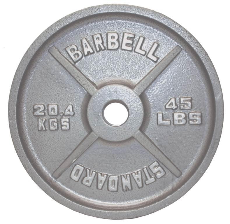 USA Sports Gray Olympic Plate - 45 lbs.