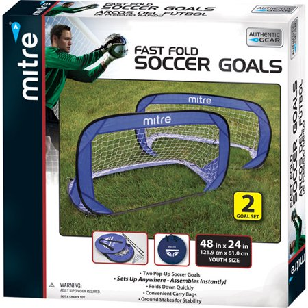 mitre 4 foot pop up soccer goals 2 goals. Black Bedroom Furniture Sets. Home Design Ideas