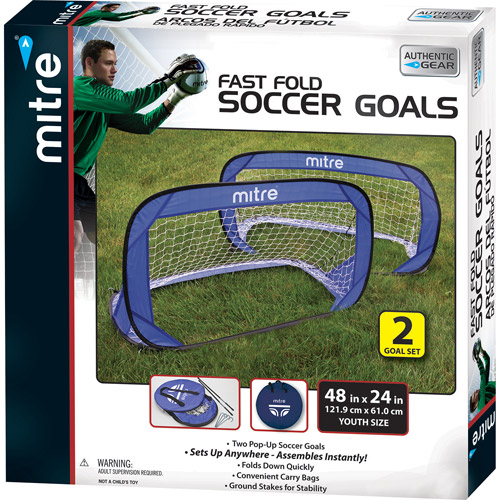 Mitre 4-foot Pop-Up Soccer Goals (2 Goals)