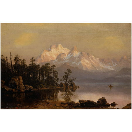 "Trademark Fine Art ""Mountain Canoeing"" Canvas Art by Albert Bierstadt"