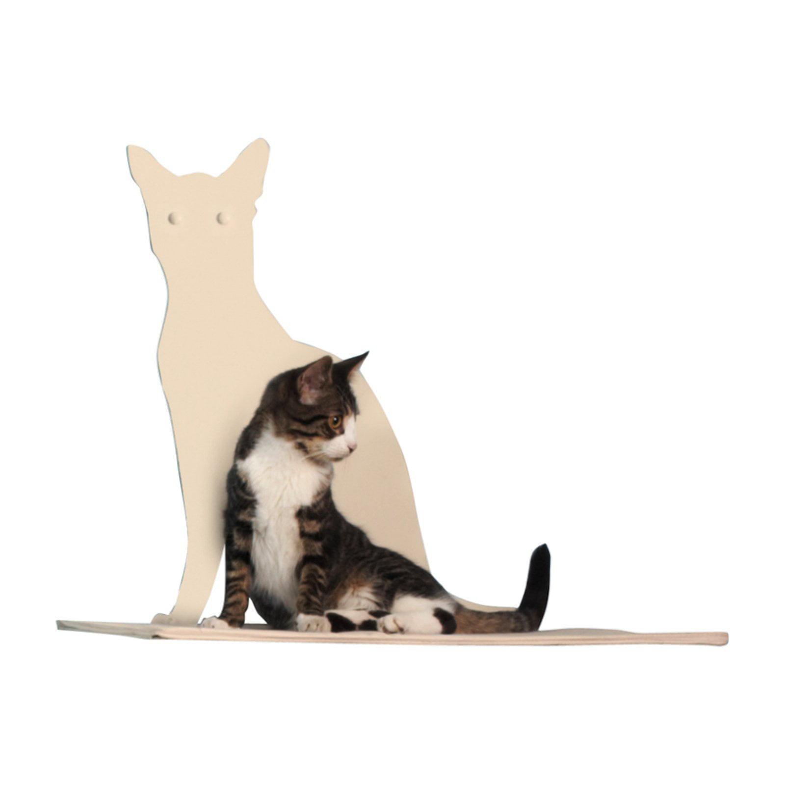 Refined Feline Cat Silhouette Cat Shelf Perch
