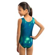53e392ca8 Lizatards - Girls Gymnastics Leotard in Green Blue Jewel Fabric with ...