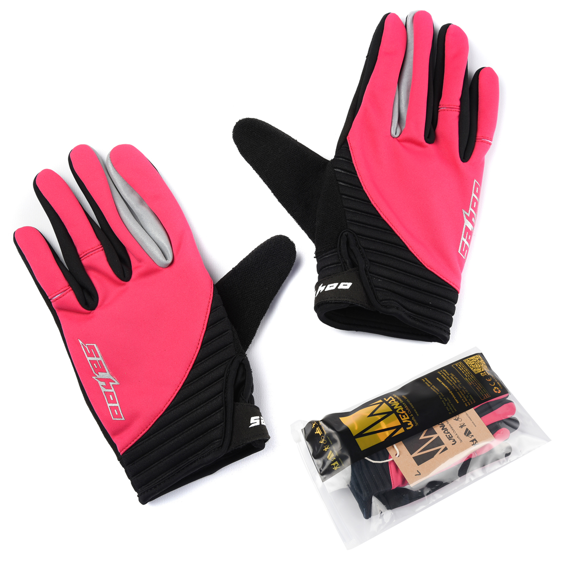 WEANAS Women's Outdoor Gel Touchscreen Full Finger Cycling Gloves, Winter Cold Weather Bike Bicycle MTB DH Downhill Off... by Weanas