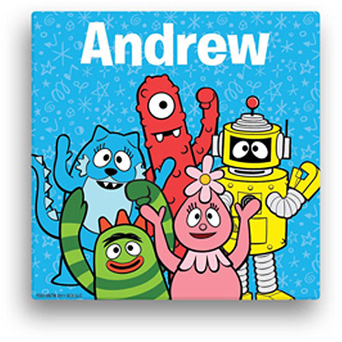"Personalized Yo Gabba Gabba! Wave 11"" x 11"" Canvas Wall Art"