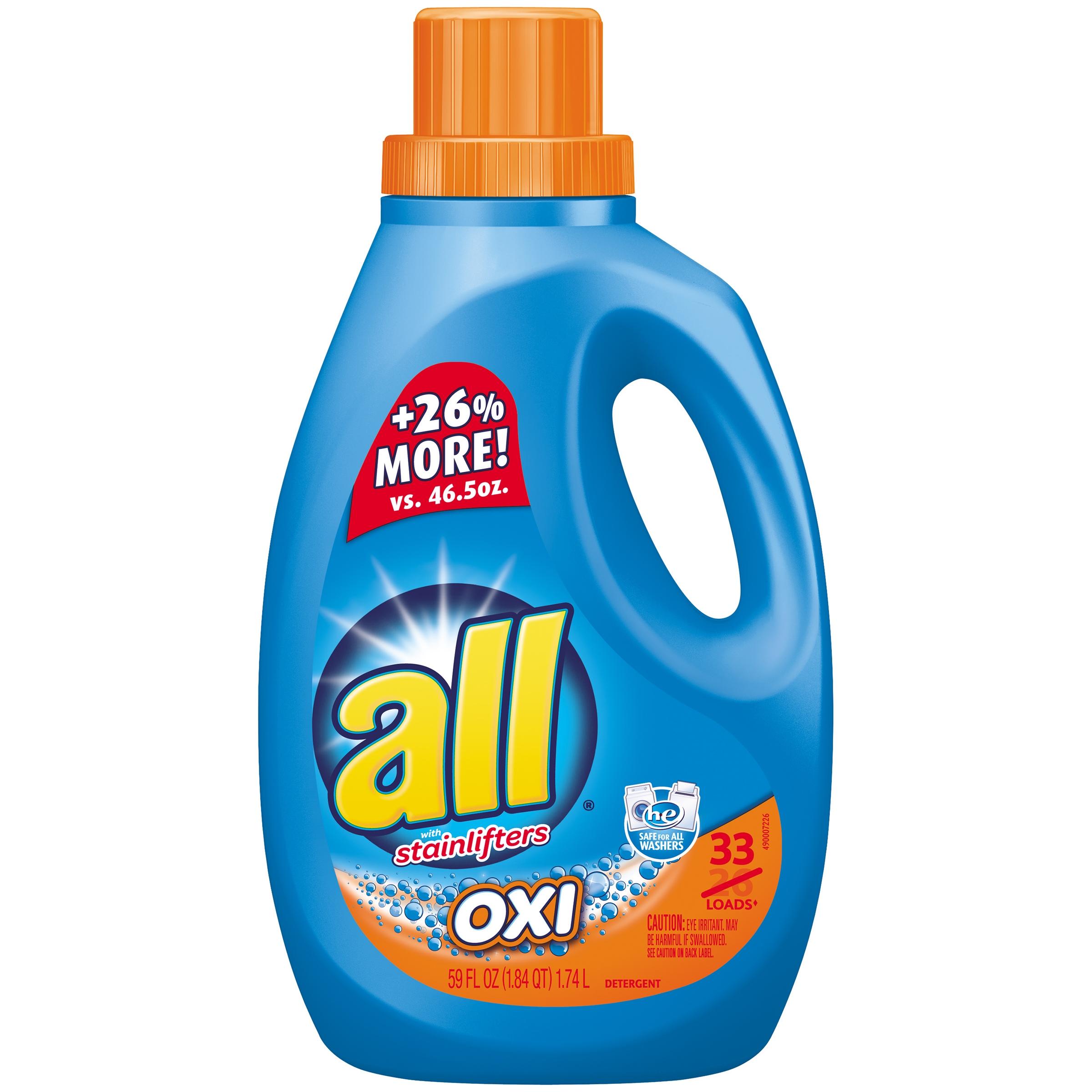 all® OXI Laundry Detergent 33 Loads 59 fl. oz. Bottle