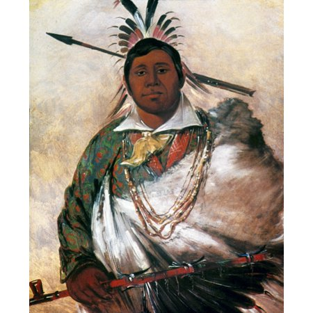 Catlin Cherokee 1836 Nblack Coat A Cherokee Chief Oil On Canvas 1836 By George Catlin Rolled Canvas Art -  (24 x - 1836 Oil