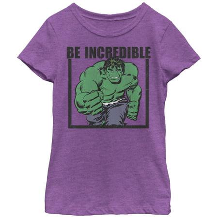 Marvel Girls' Hulk Be Incredible - Marvel For Girls