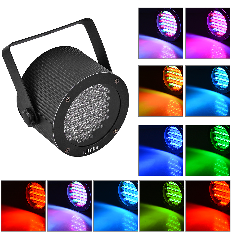 Kojooin 86 LEDs RGB Color Mixing Stage Light UFO Lamp Laser Projector for Party Club DJ Show