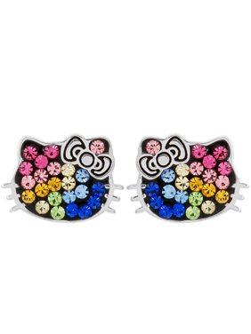 6ea4031dc Product Image Sterling Silver Multi Crystal Hello Kitty Earrings