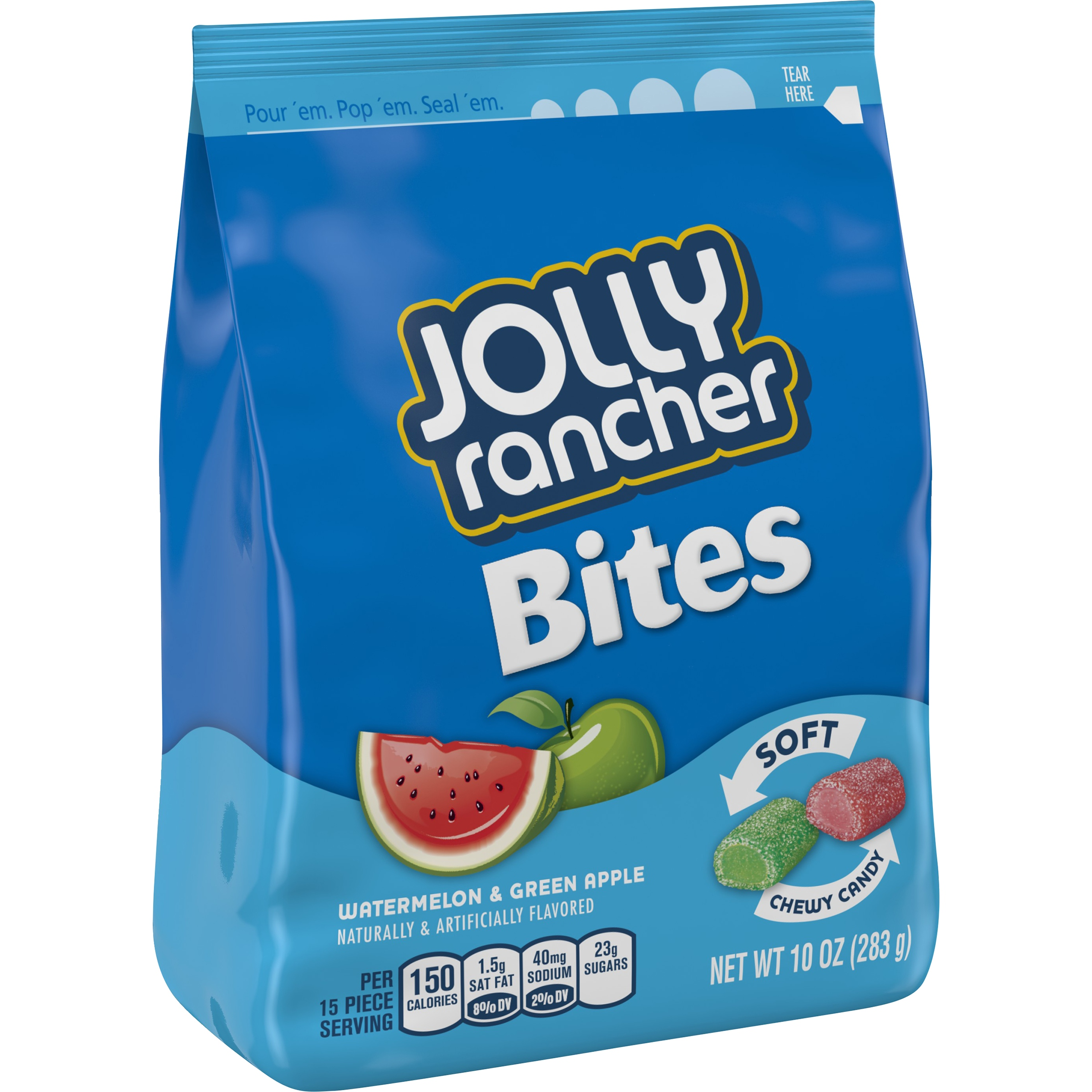 Jolly Rancher Bites Watermelon & Green Apple Soft Chewy Candy, 10 oz by The Hershey Company