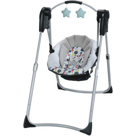 Graco Slim Spaces Compact Baby Swing, Etcher