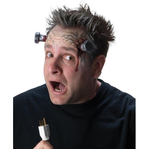 Frankenstein Bolts High Voltage Makeup Kit Monster Prosthetic Horror Movie