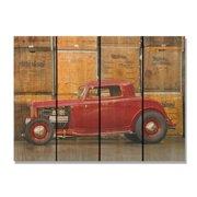 Day Dream DC2216 22 x 16 in. Deuce Coupe Inside & Outside Cedar Wall Art