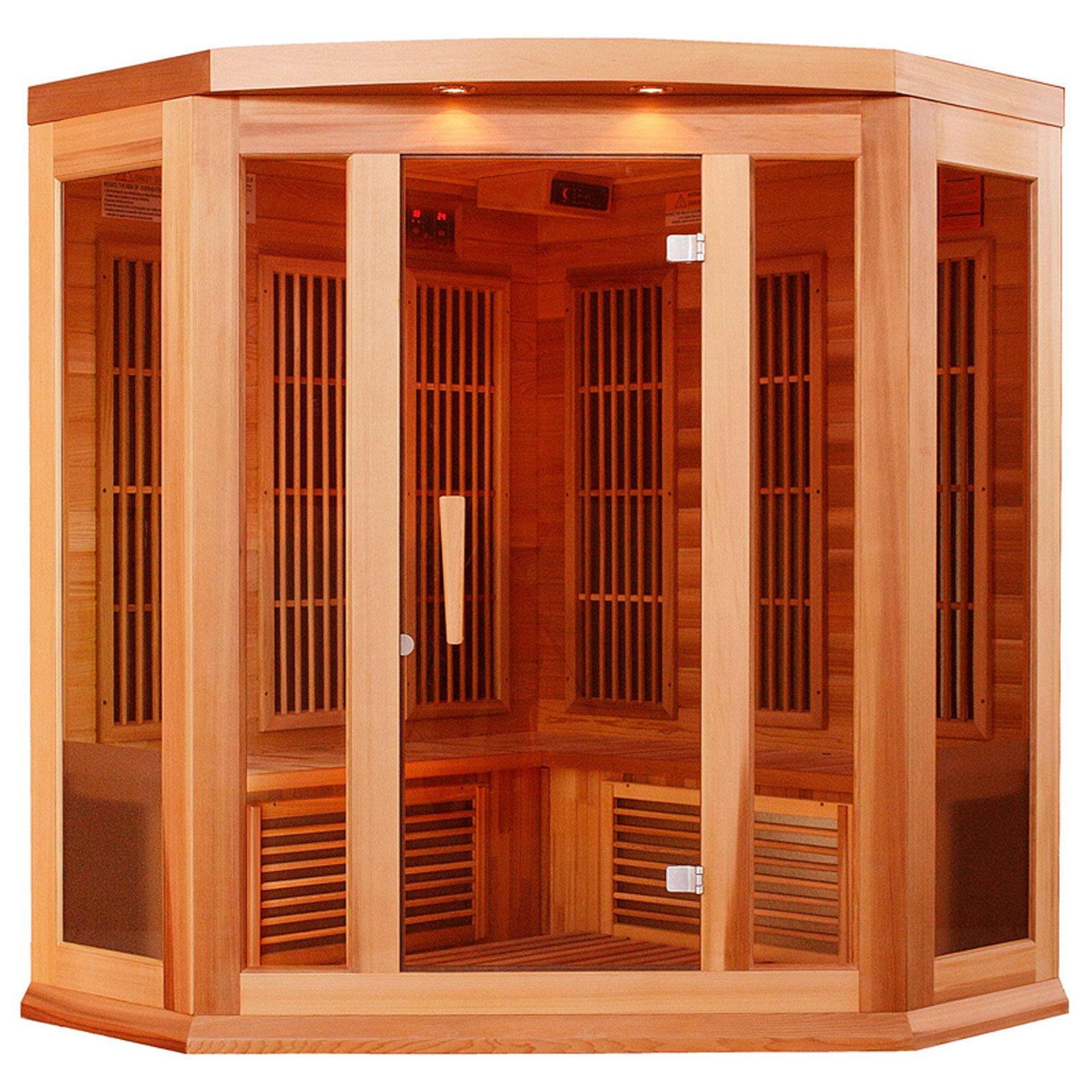Maxxus Sauna 3 Person Corner Carbon Sauna by Maxxus Saunas