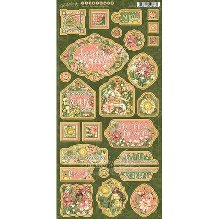 Garden Goddess Chipboard Die-Cuts 6