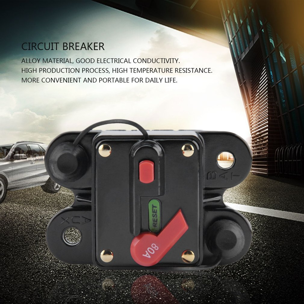 Car Audio Fuse Holder With Switch Power Supply Protector Circuit Breaker Portable
