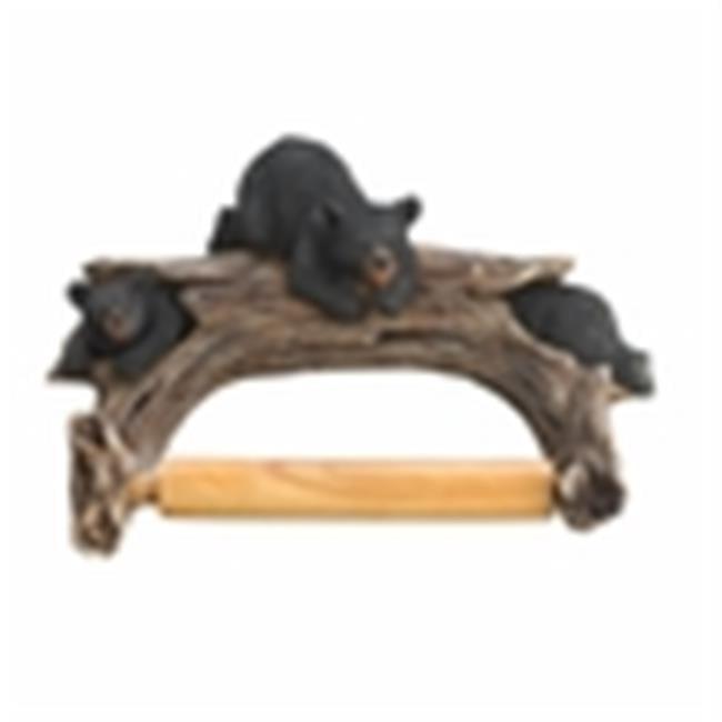 Eastwind Gifts 10016202 Black Bear Toilet Paper Holder - image 2 de 2