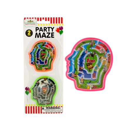 Halloween Party Brain Mazes (Pack Of 24)