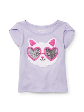 a615b43f2ce83 Product Image The Children's Place Short Sleeve Tulip Sleeve Top (Baby Girls  & Toddler ...