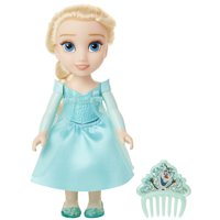 """Disney Frozen Princess Elsa 6"""" Petite Doll with Glittered Hard Bodice and Comb"""