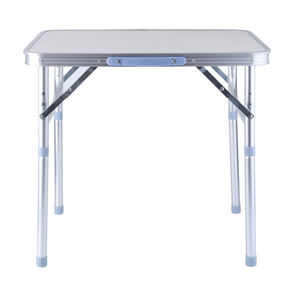 Click here to buy Portable Lightweight Height Adjustable Folding Table Indoor Outdoor Picnic Party Dining Camping Table With Handle.
