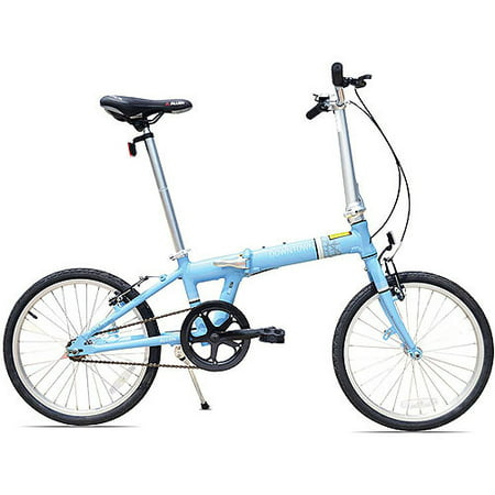 Allen Sports Downtown 1-Speed Folding Bicycle, Sky Blue