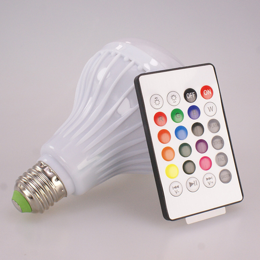 E27 Bluetooth Music Led Lightbulb Colorful Led Stage Smart Lightbulb Remote Control Music Bulb