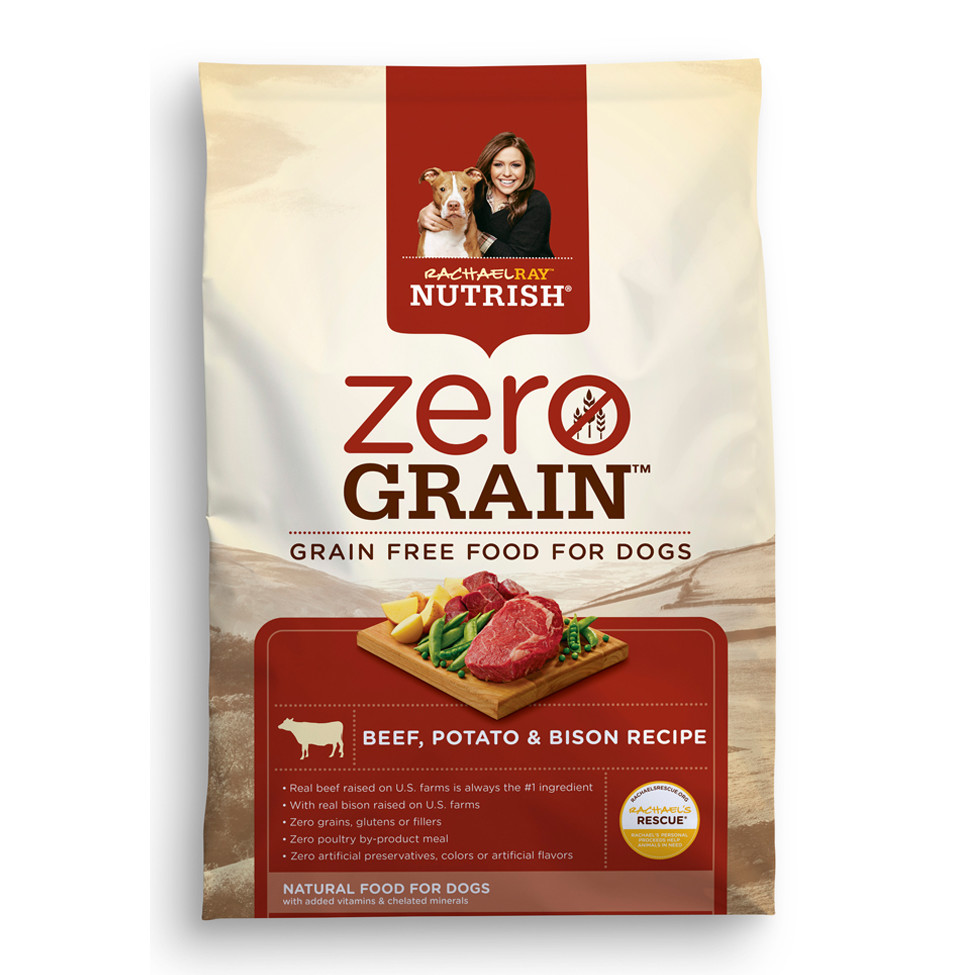 Rachael Ray Nutrish Zero Grain Natural Dry Dog Food, Beef with Bison Recipe, 11 lbs