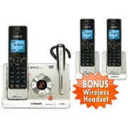 VTech LS6475-3 + (1) LS6405 Cordless Answering System w/ Headset