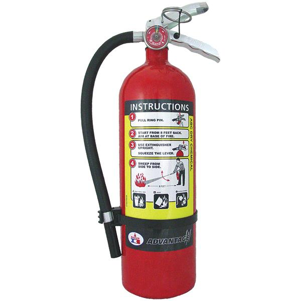 5# ABC Fire Extinguishers, ADV.EXTG W/WALL H