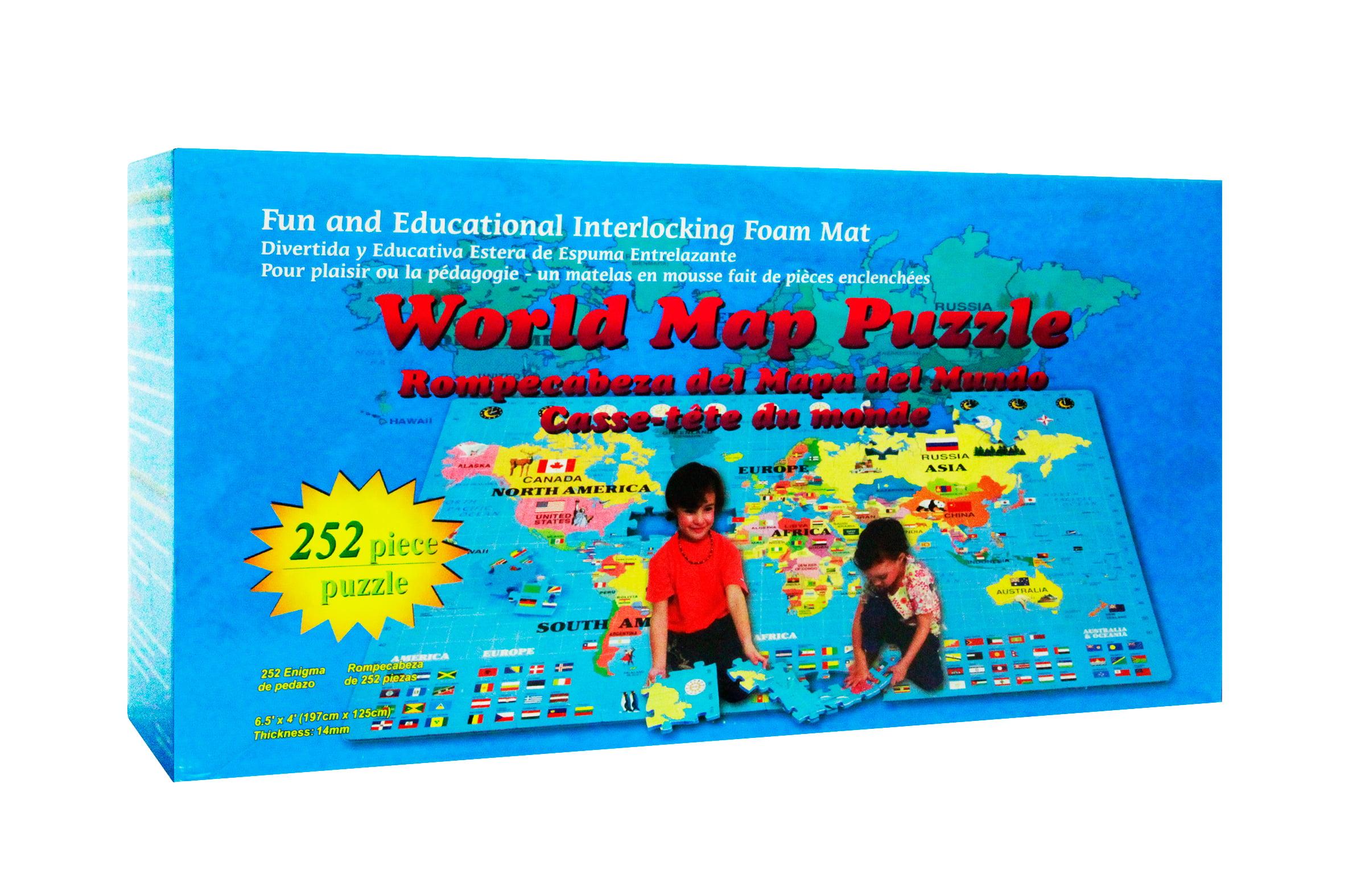 World Map Interlocking Foam Puzzle Floor Set by Scientifics Direct