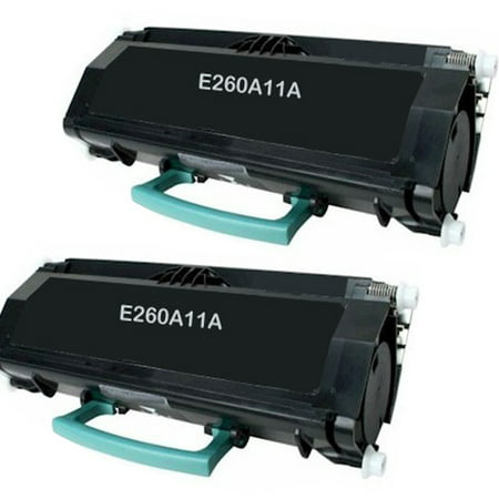 Remanufactured Lexmark E260A11A toner cartridges - high capacity - 2-pack