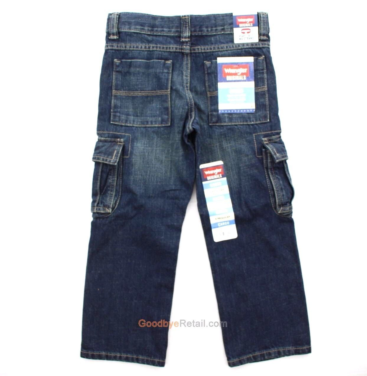 Wrangler Cargo Regular Boys Denim Jeans 4 Cargo Regular