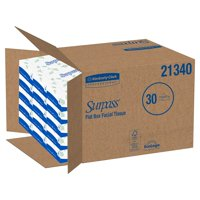 Surpass Facial Tissue 21340, 8 x 8.3 Inch, 2-Ply, Case of 3000, White