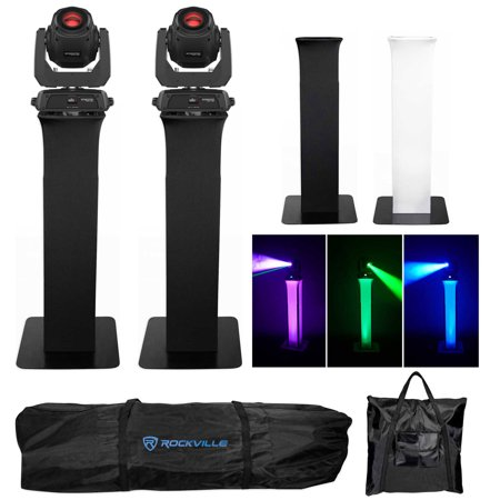 (2) Chauvet Intimidator Spot 360 Moving Heads DMX Party Lights+Totem (2 Moving Head)