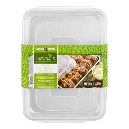 Nordic Ware Naturals Baker's Quarter Sheet With Storage Lid, 1.0 CT