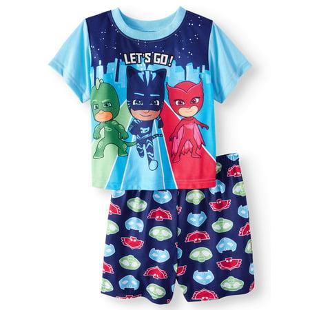3T PJ Masks Short Sleeve Pajama Shirt Shorts Toddler Boys